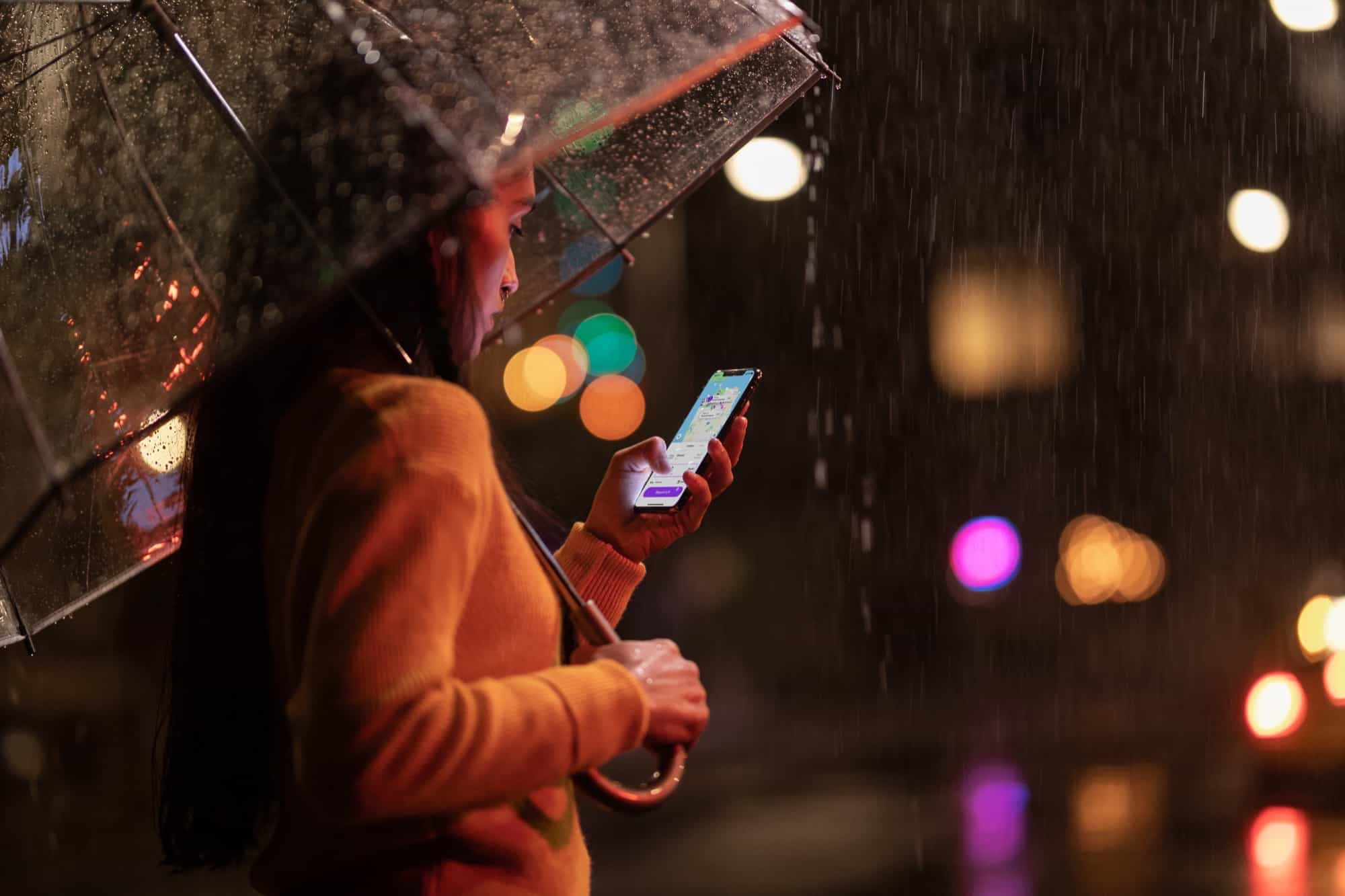 Any of the new iPhones can handle the worst rainstorm.