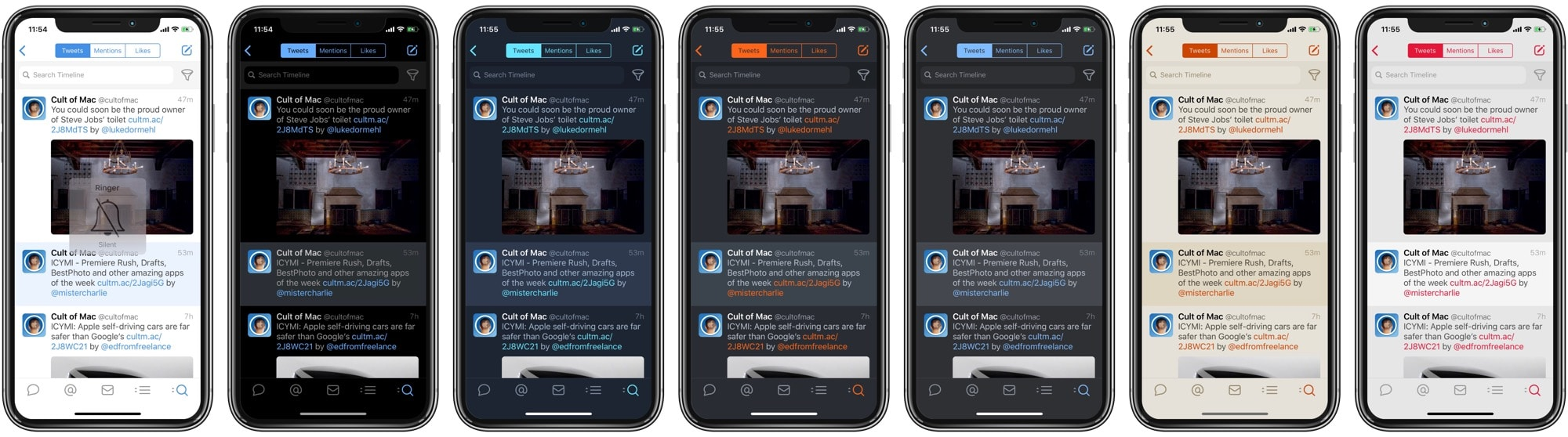 Tweetbot now has seven themes, if you know how to find them.