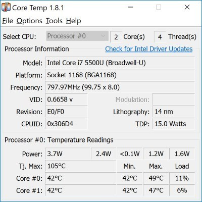 Cómo verificar la temperatura de la CPU en Windows 10 - 8