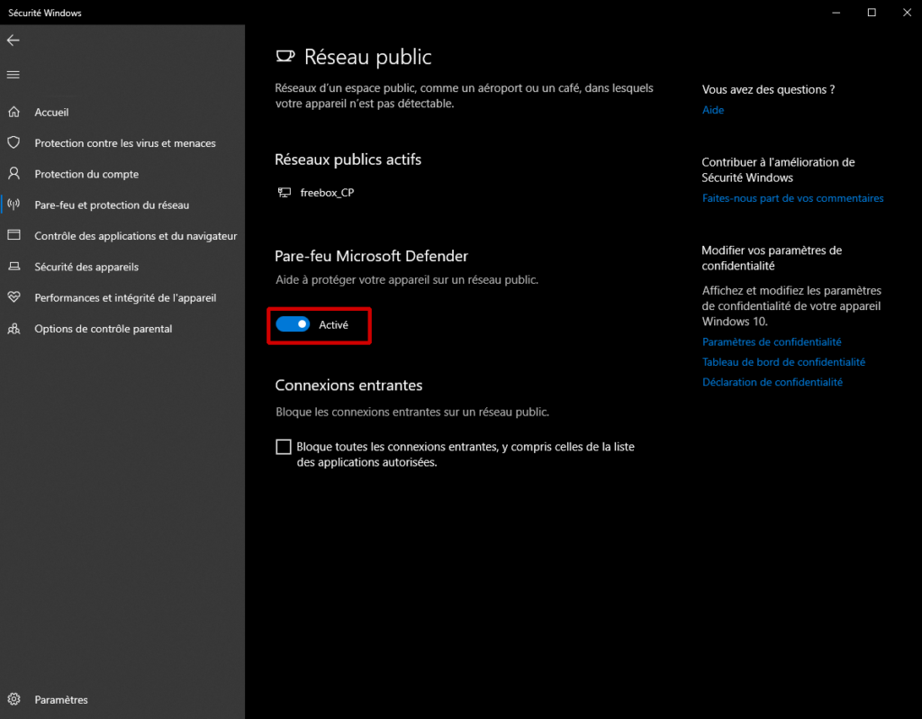 Tutorial para habilitar / deshabilitar el firewall de Microsoft Defender (Windows 10) 1