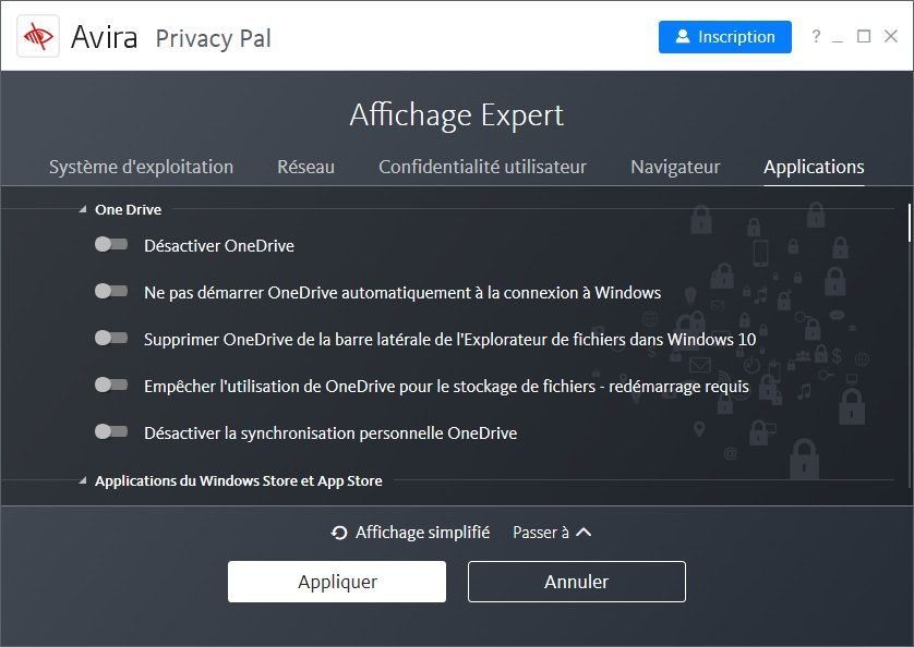 Avira Privacy Pal: Vista de experto